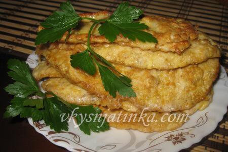 Отбивные из куриного филе, жаренные на сковороде - рецепт и фото