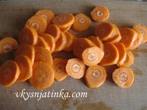 Морковь порезанная кружочками