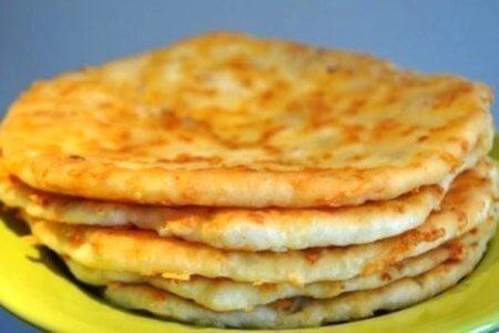 Быстрые лепешки на пикник, пошаговый рецепт с фото
