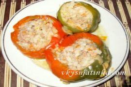 Болгарский перец фаршированный мясом в духовке