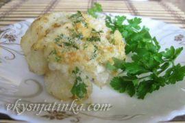 Цветная капуста запеченная с сыром в духовке - фото