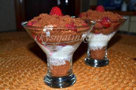 Десерт из малины - фото