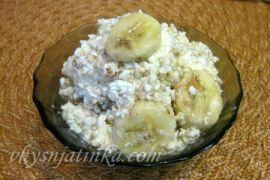 Десерт из творога и бананов - фото