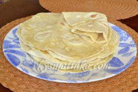 Домашний армянский лаваш на сковороде