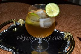 Домашний коктейль с темным ромом