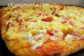 Домашняя гавайская пицца - фото