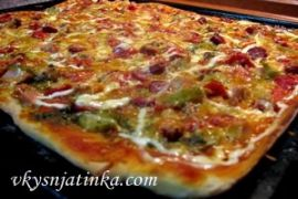 Домашняя мексиканская пицца