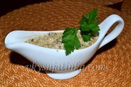 Грибной соус из шампиньонов со сливками - фото
