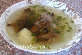 Грибной суп из лисичек - фото