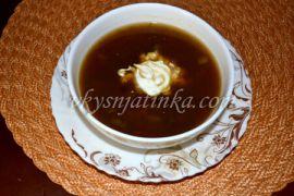 Грибной суп из сушеных белых грибов - фото