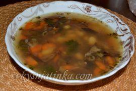 Грибной суп из сушеных опят - фото