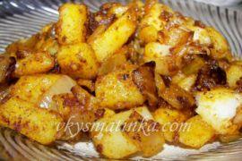 Картофель по-селянски на сковороде