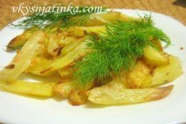 Картофель запеченный в яичном белке в духовке