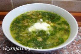 Классический суп рассольник с перловкой