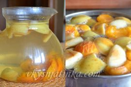 Компот из свежих абрикос с яблоками