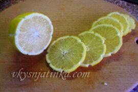 Красивая подача лимона