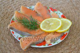 Красная рыба маринованная в домашних условиях - фото