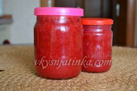 Красная смородина перетертая с сахаром