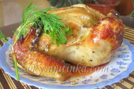 Курица с персиками в духовке - фото