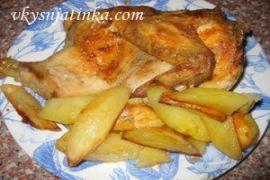 Курица в майонезе с картофелем в духовке
