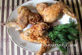 Куриные крылышки в крахмале - фото