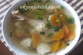 Овощной суп на курином бульоне - фото