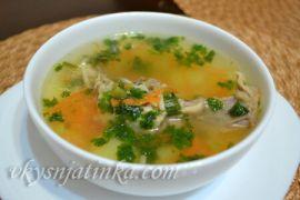 Вкусный куриный суп с вермишелью и картошкой