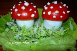 Грибы из яиц «Мухоморчики»