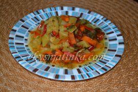 Овощное рагу с кабачками в мультиварке