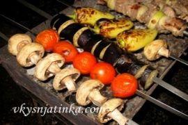 Овощной шашлык - фото
