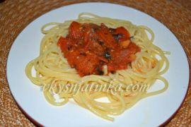 Паста с помидорами - фото