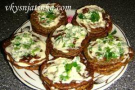 Печеночные тортики из говяжьей печени