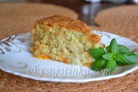 Кокосовый пирог с абрикосами - фото