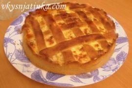 Пирог с куриным филе в духовке