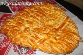 Пирог с мясом из дрожжевого теста - фото