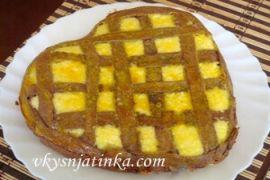 Пирог с творожной начинкой - фото