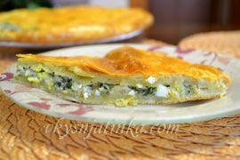 Пирог с зеленым луком и яйцом - фото