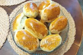 Пирожки с квашеной капустой в духовке