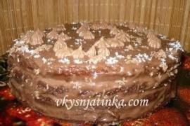 Пражский торт со сгущенкой в домашних условиях - фото