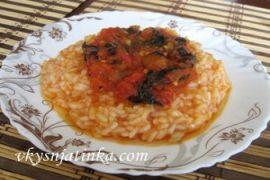 Рис в томатном соке