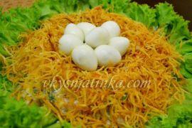 Салат «Гнездо глухаря» - фото