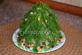 Салат «Новогодняя елочка» - фото