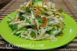 Салат со свежим огурцом - фото