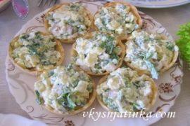 Салат в тарталетках - фото