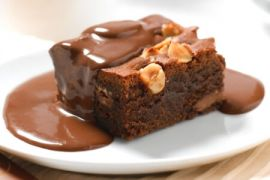 Шоколадный брауни - фото