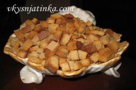 Сухарики из черного хлеба в духовке - фото