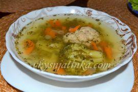 Суп из цветной капусты и брокколи - фото