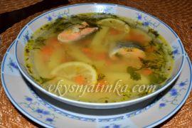 Рыбный суп из хвоста форели