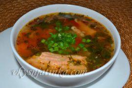 Вкусный суп из красной рыбы