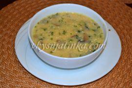 Суп-пюре из шампиньонов с плавленным сыром - фото